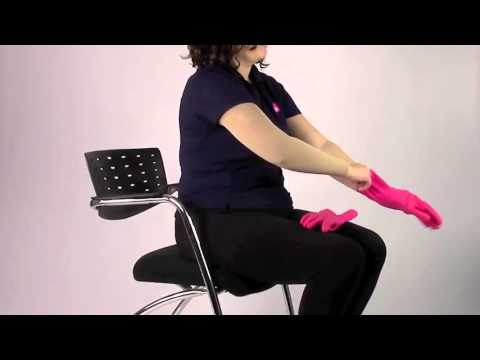 e39a517765 Donning and Doffing mediven harmony Arm Sleeve - YouTube