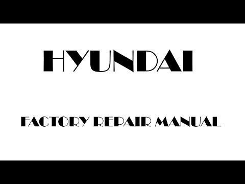 Hyundai tucson 2004 2005 2006 2007 2008 2009 repair manual youtube.