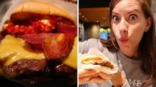 Japanese Shake Shack Burgers + Fries + Sides Taste Test | Tokyo, Japan