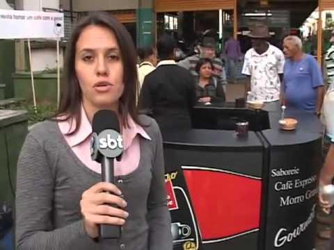 VTV Campinas   Café Morro Grande distribui café em praça