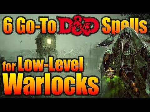 5E D&D Warlock Spells for Tier 1