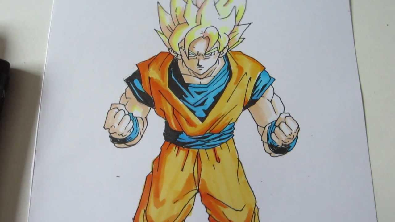 how to draw goku super saiyan 1 ssj1 1 youtube