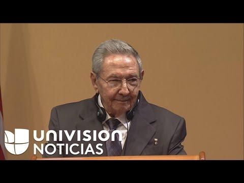 """Raúl Castro: """"Si hay presos políticos antes que termine la noche estarán sueltos"""""""