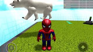 Dressing up as Spider Man in Catalog Heaven ROBLOX