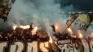 Ultras Nord bränner bengaler (AIK - Kalmar FF 3-1)
