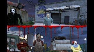 Ghostface , Michael Myers & Jason Voorhees VS Leatherface , Freddy Krueger & Pennywise (GTA 5)