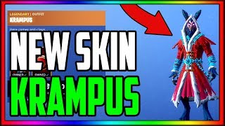 Fortnite Item Shop *NEW* Christmas KRAMPUS Skin Gameplay