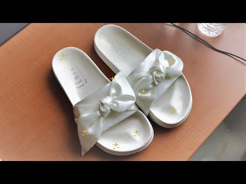 HOW TO CLEAN YOUR RIHANNA X FENTY BOW SLIDES🎀