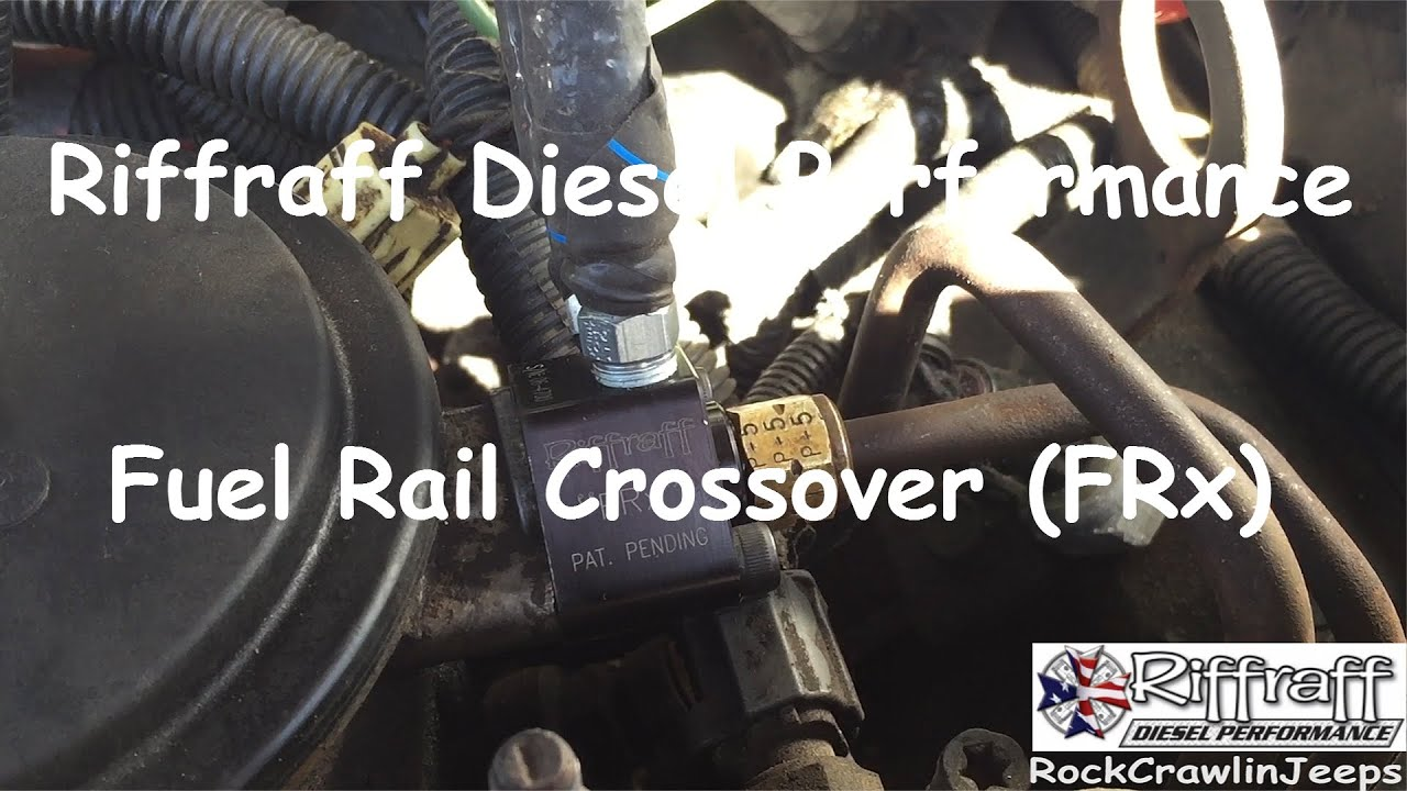 How To Riffraff Diesel Fuel Rail Crossover Frx Youtube