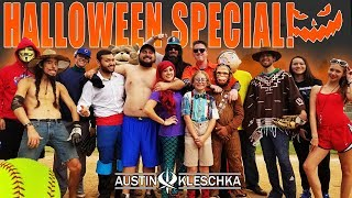HALLOWEEN SOFTBALL *DODGERFILMS* (BEHIND THE SCENES) | Kleschka Vlogs