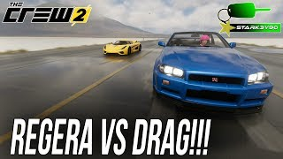 The Crew 2 - KOENIGSEGG REGERA vs DRAG CAR! Top Speed Challenge!