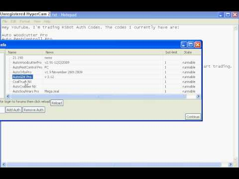 Runescap Bot!! Trading RSBots Auth Codes!!