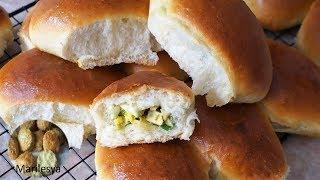 Пирожки на кефире нежные как пух!Пирожки с зелёным луком и яйцом