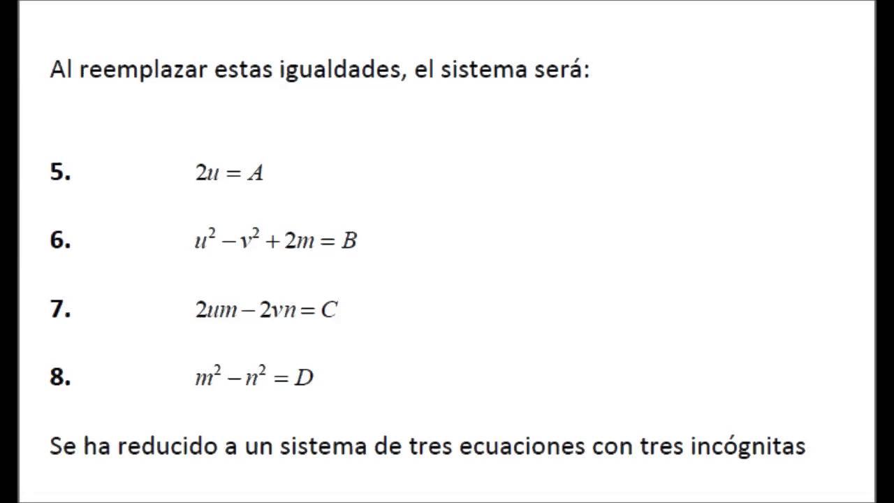 reduccion de la ecuacion de cuarto grado a una de tercer grado