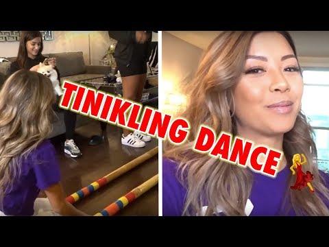 TEACHING MY FRIENDS HOW TO DANCE TINIKLING!! ft. Janina, Whleli, Don Benjamin   Liane V