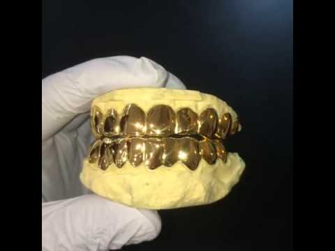 14k Solid Gold Miami Fl Style Deep Cut Perm Grill 20 Top