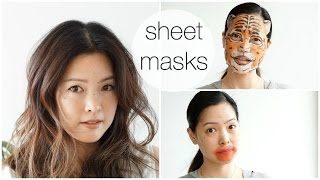 Japanese/Korean SHEET MASK Haul & Demo!