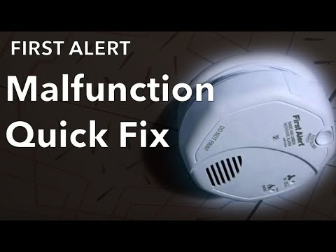 My Smoke Detector Goes Off Randomly For No Reason How to Fix First Alert  Remote Malfunction