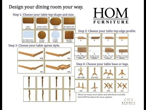 HOM Furniture and Bermex Custom Dining Table
