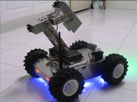 4WD rover with 4DOF robotic arm demonstration  YouTube