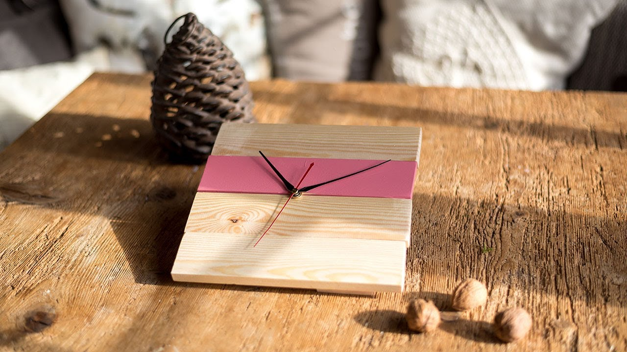 Modern Holz Basteln ~ Project tutorial: uhr aus holz basteln. diy idee. youtube