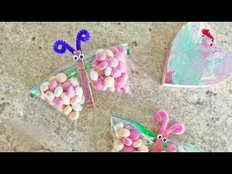 Butterfly M&M's Treat Bags for Valentine's Day - You Make My Heart Flutter!