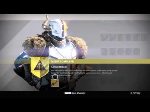 Destiny Bolt-Caster Exotic Sword