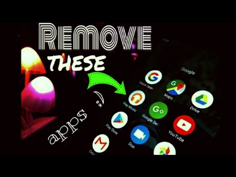 Remove any pre-installed apps (Any Google Bloatwares) in just a minute.