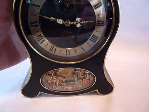 Reuge automaton musical alarm clock