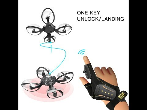 Hand Sensor Control Fold RC Drone Volcano Glove 6-Axis 2.4G RC with LED Light