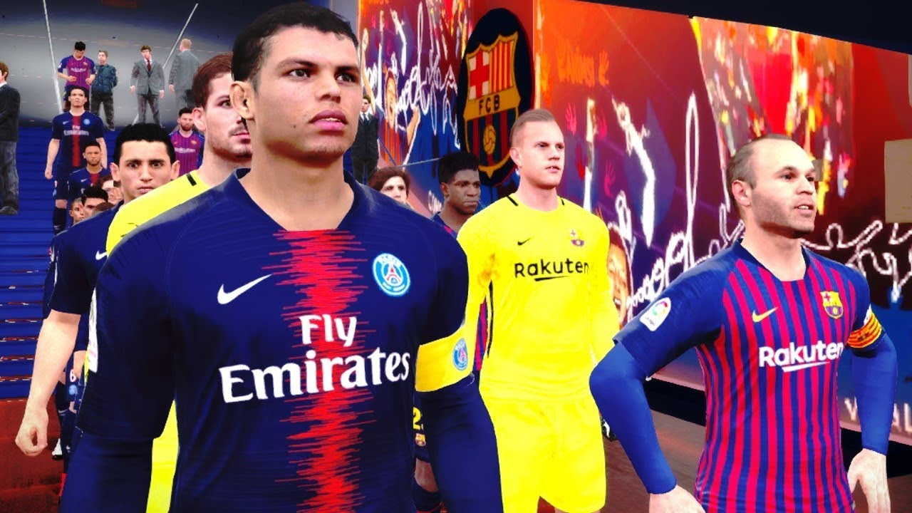 Barcelona vs PSG (2018 19 Season New Kit)  dadae7509