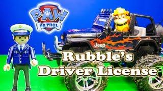 PAW PATRL Nickelodeon Paw Patrol Rubble get his Driver