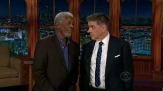 Craig Ferguson interrogates Morgan Freeman (very funny)
