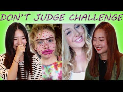 KOREAN GIRLS REACT TO DON'T JUDGE CHALLENGE