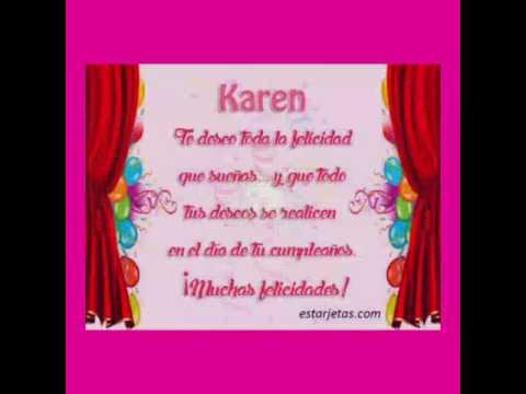 Para Mi Ahijada Y Sobrina Karen Youtube