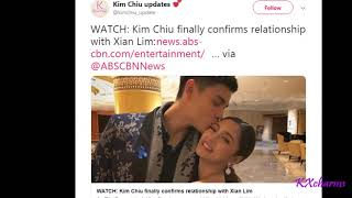 Kim Chiu admits relationship with Xian Lim, Netizens React