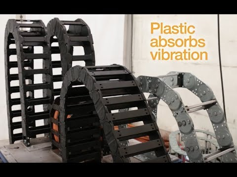 Plastic cable carrier vs metal cable carrier - vibration test