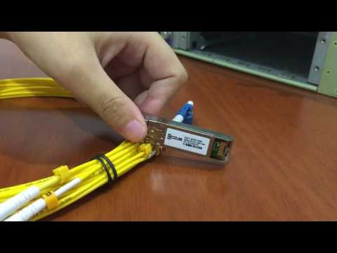 How to install and remove 10G SFP+ SR Modules?