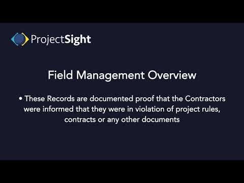 ProjectSight Training - Field Management Overview