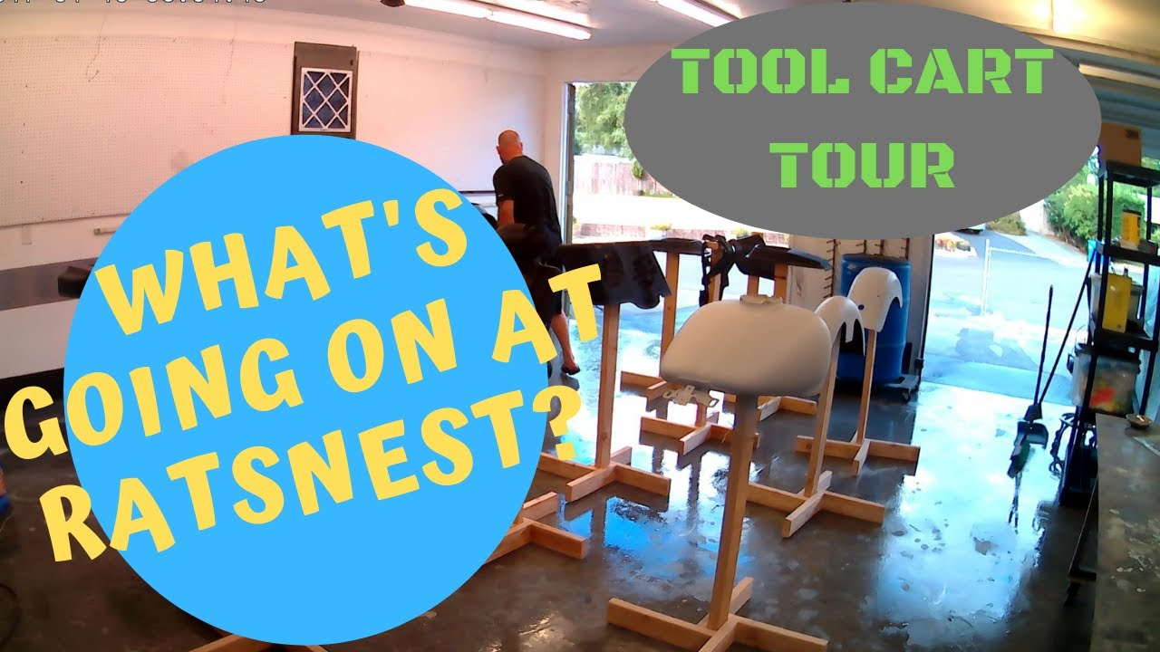 US General Tool Cart tour! and shop update!