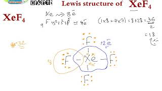Lewis Structure Hybridization Xef4 Youtube