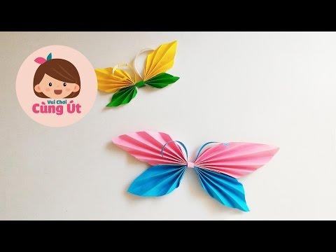 Cách làm con bướm bằng giấy - Thủ công cho bé
