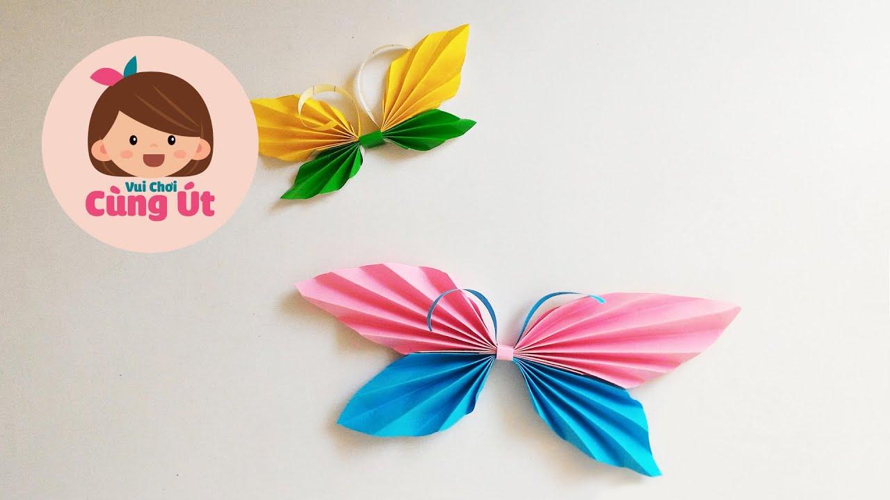 Cách làm con bướm bằng giấy – Thủ công cho bé