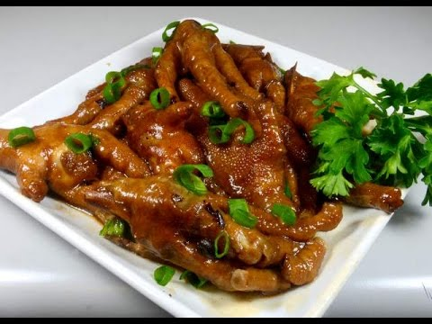 鸡爪Braised Chicken Feet with Ginger Black Bean Sauce: Authentic Chinese Cooking thumbnail