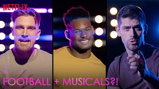 Travis Kelce, JuJu Smith-Schuster + Justin Tucker Tackle Football + Musicals | The Prom | Netflix