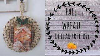 FALL DOLLAR TREE DIY |  FALL WREATH 🍁