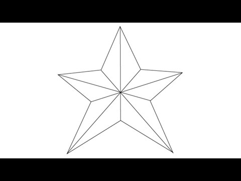 How to draw a star easy step by step drawing lessons for kids