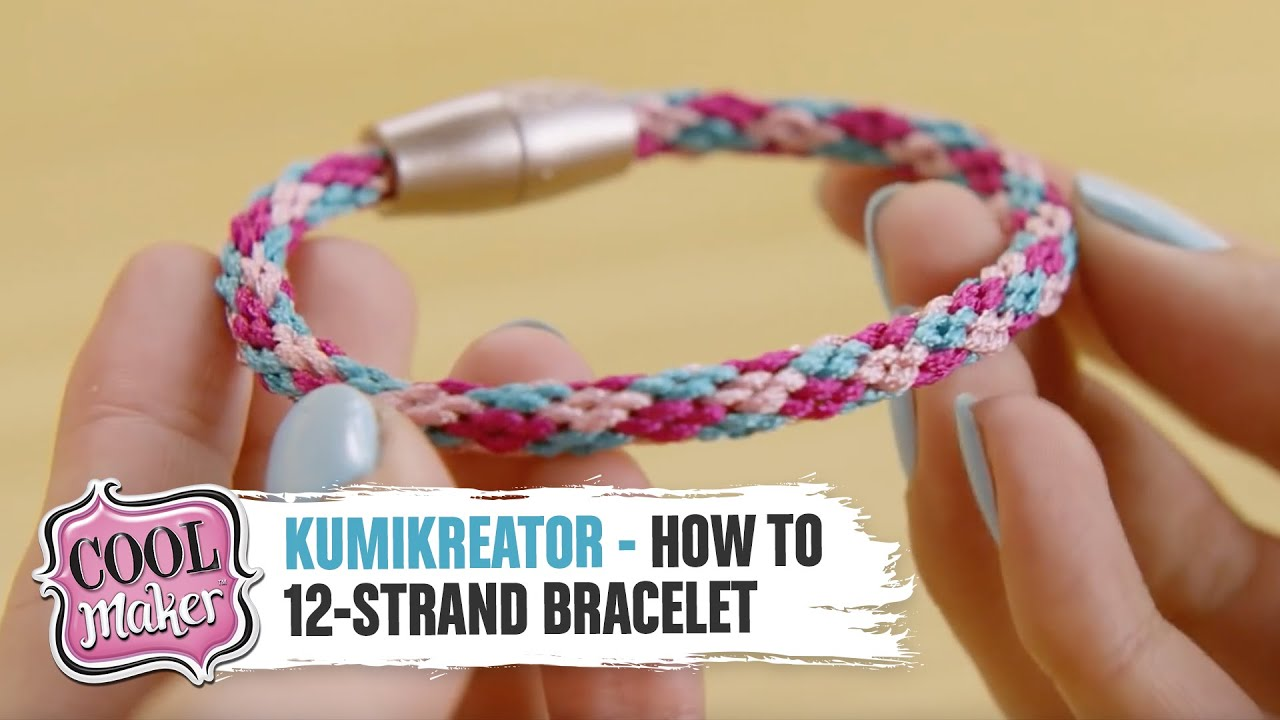 Cool Maker | KumiKreator | How to Make a 12-Strand Bracelet