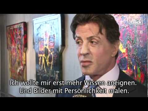 Sylvester Stallone Art Exhibition Interview
