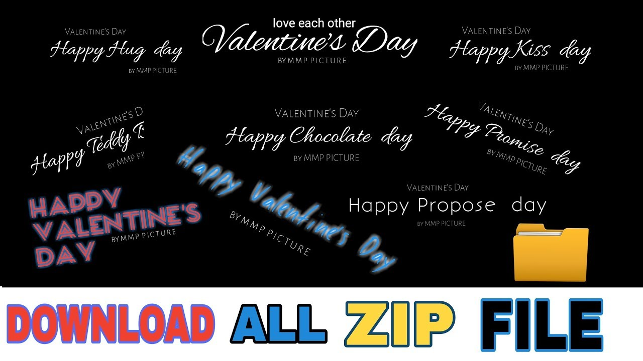 Happy Valentines Day Text Png Images Download Zip File Latest All